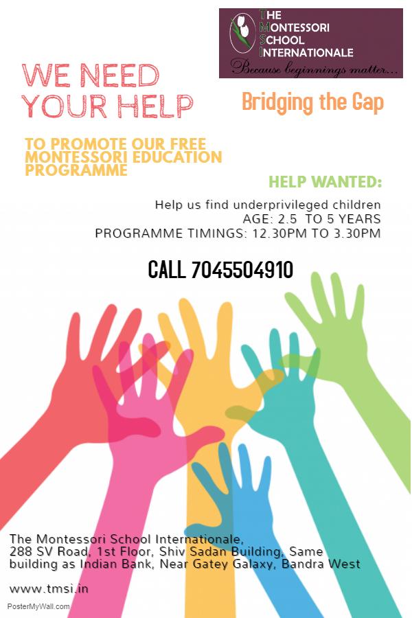 Bridging The Gap Raise Awareness Poster